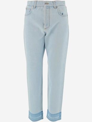 Loewe Pale Blue Cotton Denim Women's Jeans