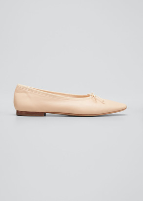 Loeffler Randall Georgie Metallic Bow Ballerina Flats