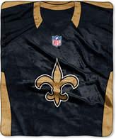 Northwest Company New Orleans Saints Jersey Plush Raschel Throw