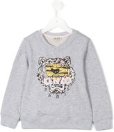 Kenzo embroidered lion sweatshirt - kids - Cotton - 4 yrs