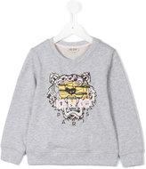Kenzo embroidered lion sweatshirt - kids - Cotton - 4 yrs