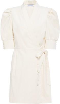 Hofmann Copenhagen Camille Cotton-blend Corduroy Mini Wrap Dress