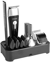 Sminiker 5 in 1 Waterproof Man's Grooming Kit Hair Clippers Beard Trimmer Dual Shaver Body Trimmer Nose Hair Trimmer Precision Trimmer Rechargeable