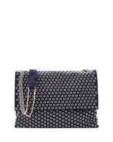 Lanvin Medium Sugar Eyelet-Studded Shoulder Bag, Dark Blue