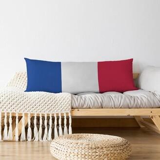Buffalo David Bitton East Urban Home Football Stripes Medium Polyester/Polyfill Body Pillow East Urban Home Color: White Accent