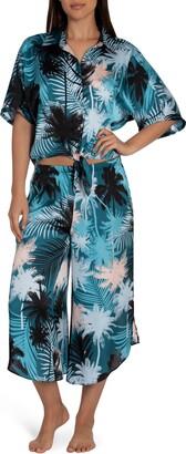 Midnight Bakery Izzy Tie Front Tropical Pajamas