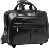 McKlein McKleinUSA Ohare 15.6 Leather Fly-Through Checkpoint-Friendly Detachable Wheeled Laptop Briefcase