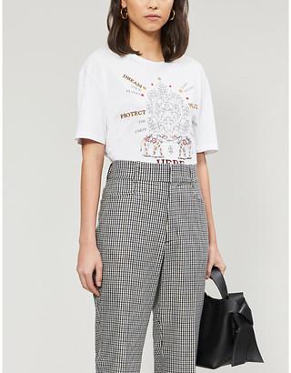 Sandro Elphi graphic-print cotton-jersey T-shirt