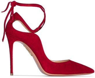 Aquazzura Aria 105mm suede pumps