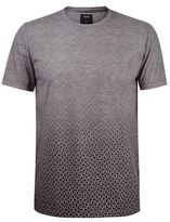 Burton Mens Grey Geometric Print Faded T-Shirt