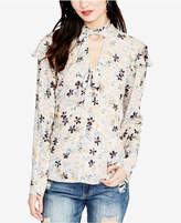 Rachel Roy Floral-Print Choker-Neck Top, Created for Macy's