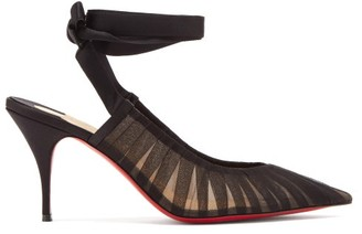 Christian Louboutin Goya Ruban Pleated Tulle Pumps - Black