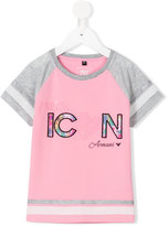 Armani Junior Miss Icon embroidered T-shirt - kids - Cotton/Polyester/Spandex/Elastane/Viscose - 6 yrs