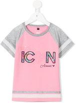 Armani Junior Miss Icon embroidered T-shirt - kids - Cotton/Spandex/Elastane/Polyester/Viscose - 4 yrs