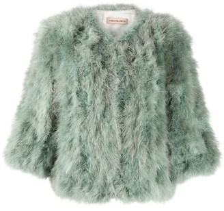 Yves Salomon Cropped Fur Jacket