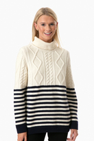 Saint James Amos Cable Knit Sweater