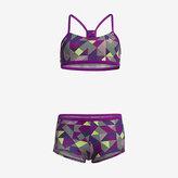 Nike Optic Pop Racerback Bikini Big Kids' (Girls') Two-Piece Swimsuit