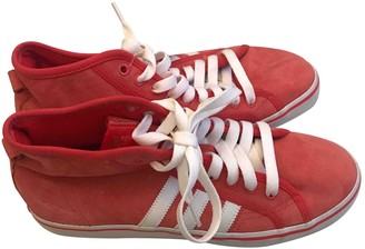 adidas Red Suede Trainers