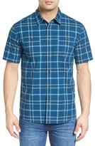 Quiksilver Men's Waterman Collection Island Job Plaid Sport Shirt