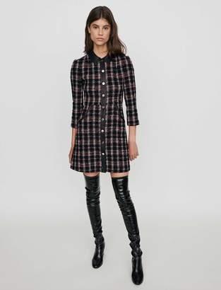 Maje Tweed-style contrast dress