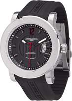 Jorg Gray Men's Quartz Analogue Watch JG8100-22 With Rubber Strap And Extension Clasp and Dial