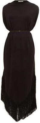 Matteau The Fringed Cocoon Dress - Black