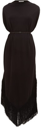 Matteau - The Fringed Cocoon Dress - Womens - Black