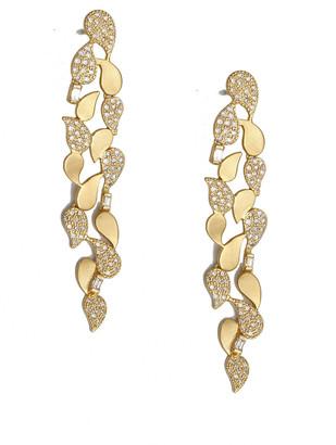 Coomi Affinity 20k Paisley Diamond Pave Earrings