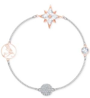 Swarovski Two-Tone Crystal Charm Magnetic Clasp Bracelet