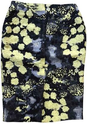 Michael Van Der Ham Yellow Silk Skirt for Women