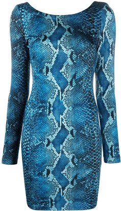 Just Cavalli Python-Print Mini Dress