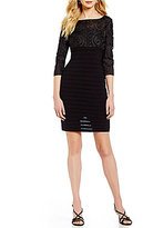 Adrianna Papell Banded-Soutache Sheath Dress
