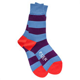 Thomas Pink Rugby Stripe Socks