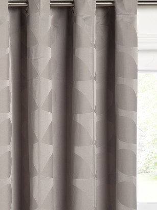 Orla Kiely Jacquard Stem Pair Lined Eyelet Curtains, Grey