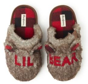 Dearfoams Women's Furry Big Bro, Big Sis, or Lil Bear Scuff