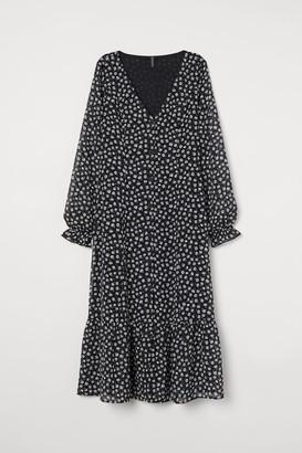H&M Button-front Dress - Black