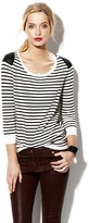 Vince Camuto Two by Stripe Pullover Sweater