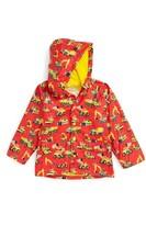 Hatley Boy's Heavy Duty Machines Hooded Raincoat