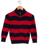 Polo Ralph Lauren Boys' Striped Logo Cardigan