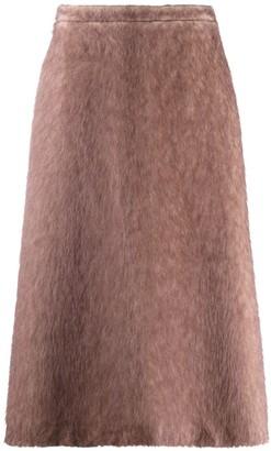 Rochas wool-blend A-line skirt