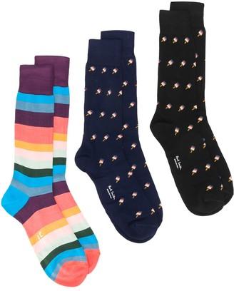 Paul Smith Pack Of 3 Socks