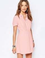 Free People Dream Chaser Button Front Dress In Peach