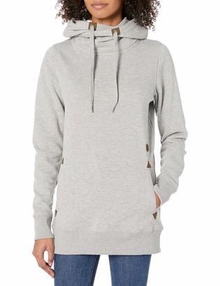 Volcom Women's Tower Pullover Heather Fleece Hooded Baselayer Sweatshirt - grey - S