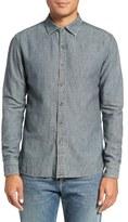 Current/Elliott Trim Fit Vintage Chambray Linen Blend Sport Shirt
