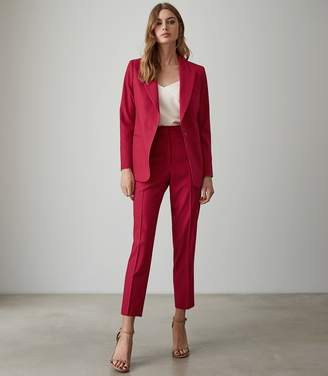 Reiss Livvi Jacket - Slim Fit Tailored Blazer in Magenta