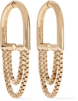 Eddie Borgo Allure Chain Gold-plated Hoop Earrings - one size