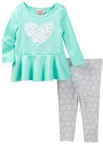 Juicy Couture Heart Tunic & Heart Print Legging Set (Baby Girls)