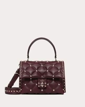 Valentino Garavani Medium Candystud Top-handle Bag Women Pastel Grey Lambskin 100% OneSize
