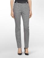Calvin Klein Essential Skinny Geometric Print Belted Pants