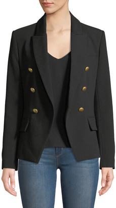 L'Agence Kenzie Double-Breasted Blazer Jacket